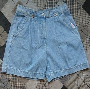 Vintage Bill Blass High Mom Denim Jean Shorts